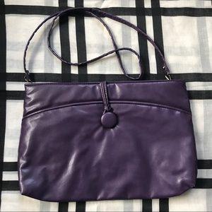 Vintage 80's Purple Shoulder Bag Clutch Purse